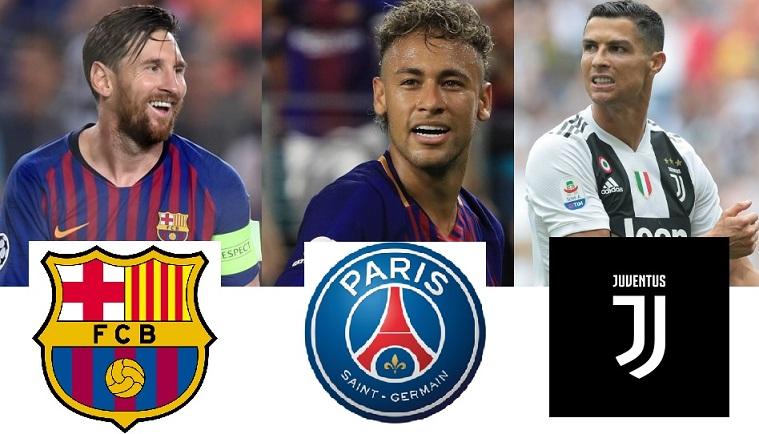 cristiano ronaldo vs lionel messi vs neymar 2018 goals