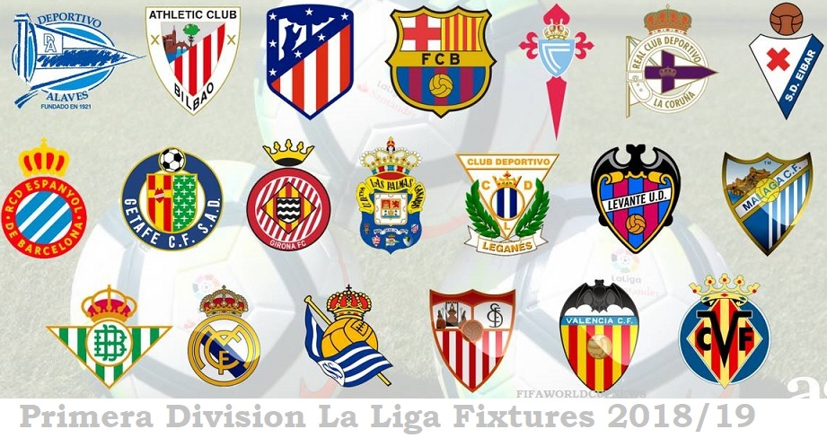 Primera division la liga fixtures 2018 19 point table standings results - Point table of spanish la liga ...