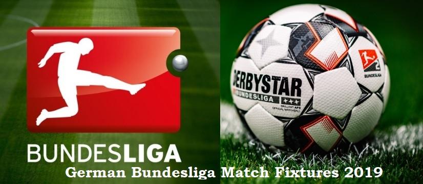 German Football League Bundesliga Match Fixtures 2019